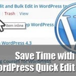 Save Time with WordPress Quick Edit